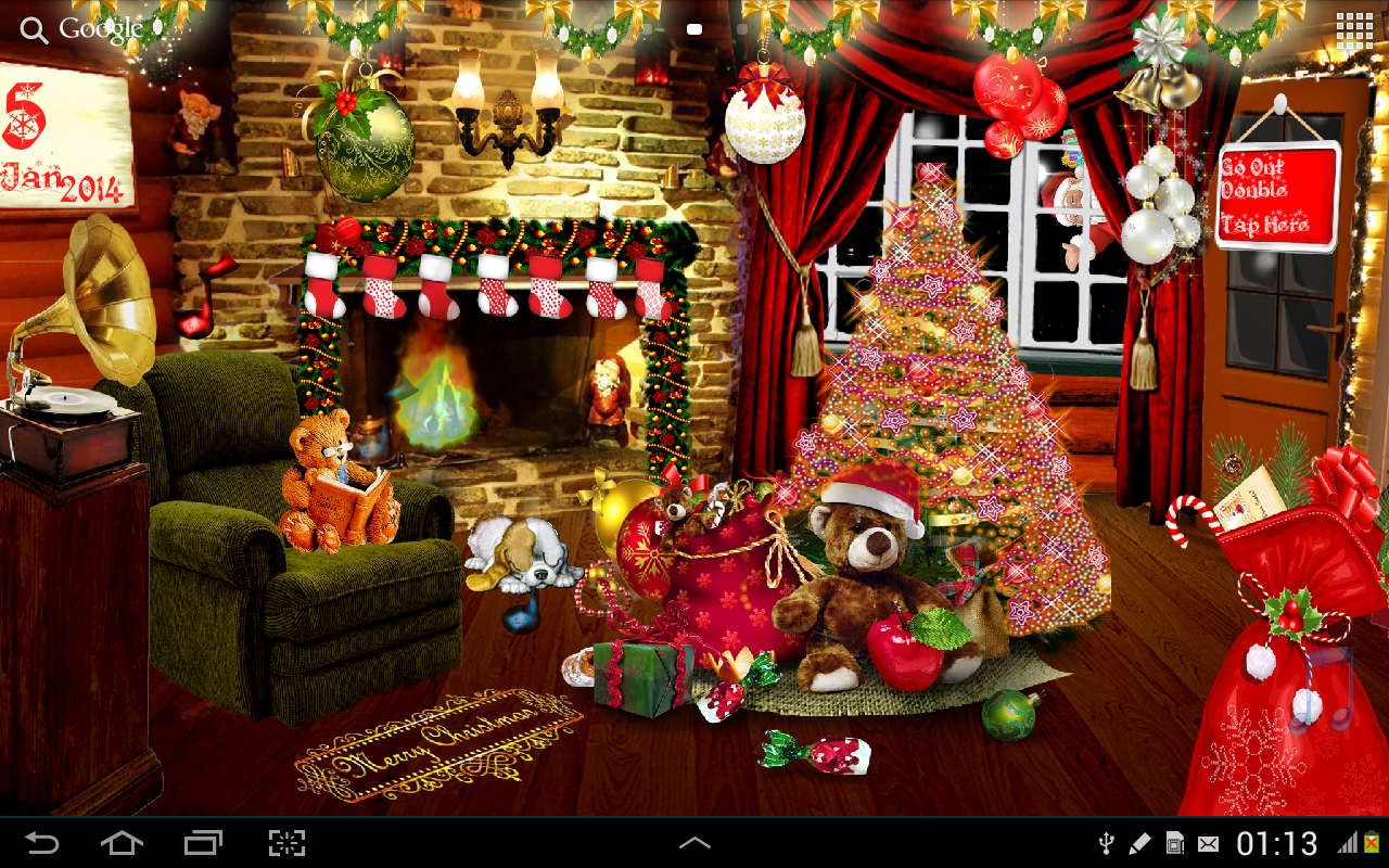 Santa Claus 3d Live Wallpaper And Screensaver Christmas Live Wallpaper Hd Android Apps On Google Play
