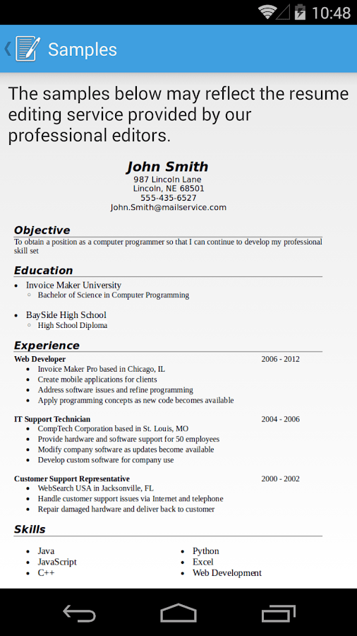 resume builder pro app resumemaker write a better resume get a better job resume builder pro - Resume Maker Pro