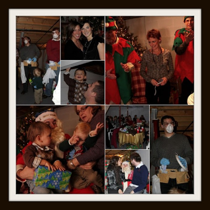 Christmas party collage