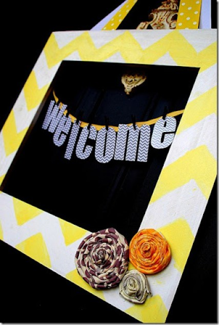 chevron welcome door hanging
