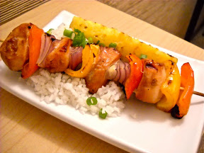 teriyaki kabob meal