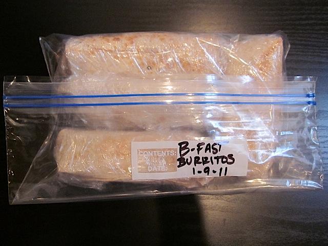 wrap and freeze burritos