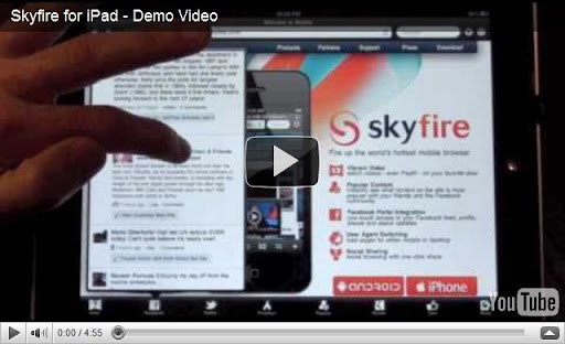 Play Adobe Flash videos with SkyFire Web Browser App for iPad