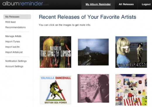 Track Latest ALBUM Releases From Your Favorite Artists using Album Reminder