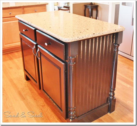 Kitchen Island Makeover - Sand And Sisal