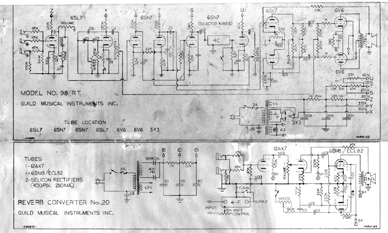 1962 98RT and Reverb 20 Schematics and recap
