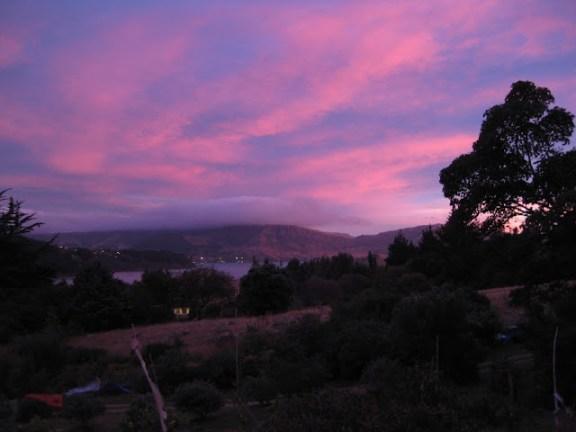 Evening sky over Purau Bay