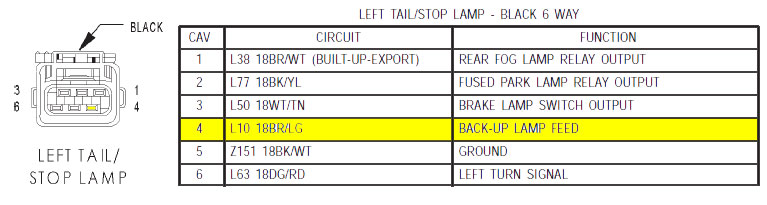 Back Up Lights Wiring Diagram 2003 Jeep Wrangler Schematic Diagram