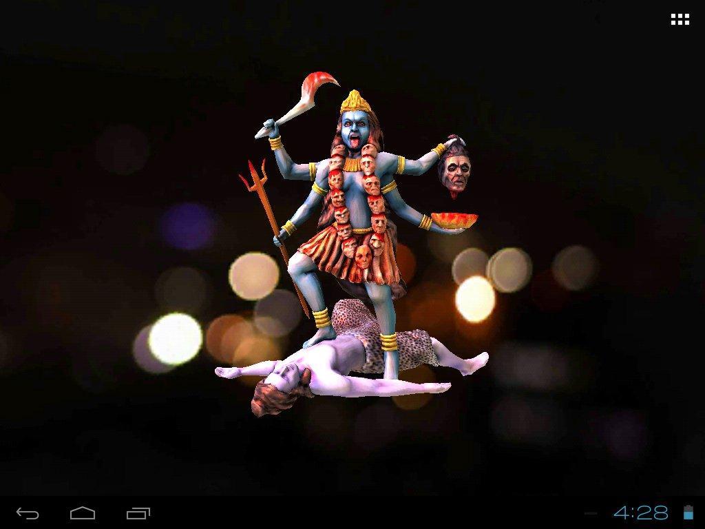 3d maa kali live wallpaper screenshot