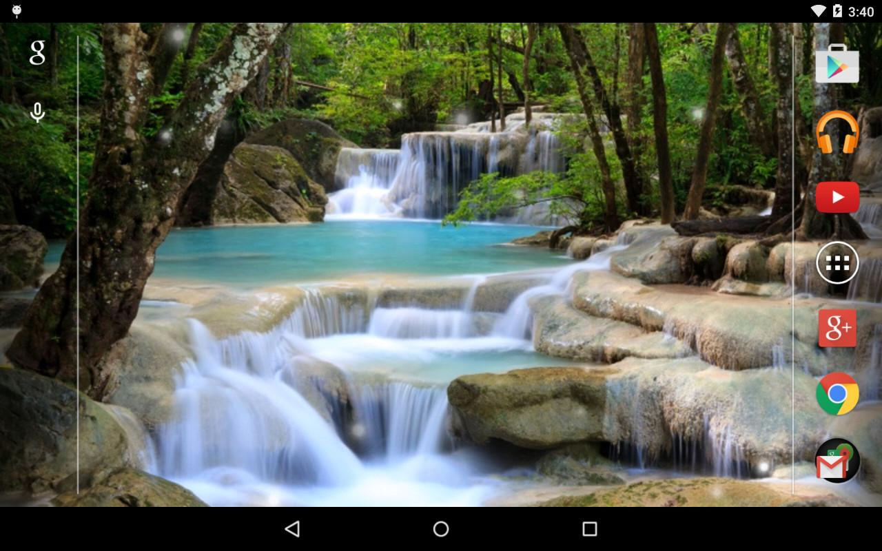Fall Wallpaper Hd For Galaxy S4 Waterfall Live Wallpaper Android Apps Auf Google Play