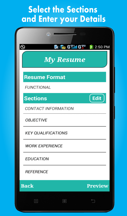 application cv android