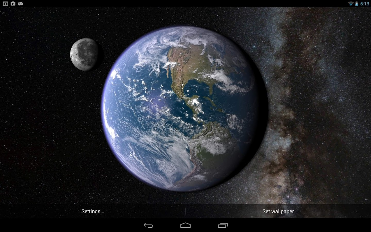 3d Live Wallpaper Parallax Earth Amp Moon In Hd Gyro 3d Android Apps On Google Play