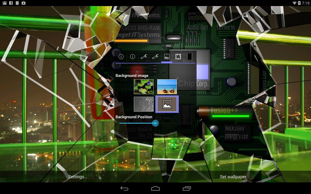 3d Parallax Weather Live Wallpaper Cracked Screen Gyro 3d Pro Parallax Wallpaper Hd Android