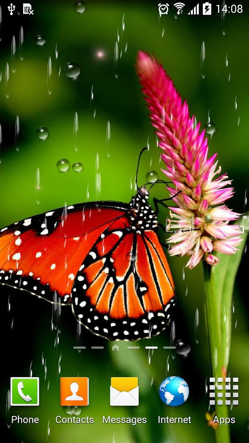 Raindrops 3d Live Wallpaper Rain Live Wallpaper Android Apps On Google Play