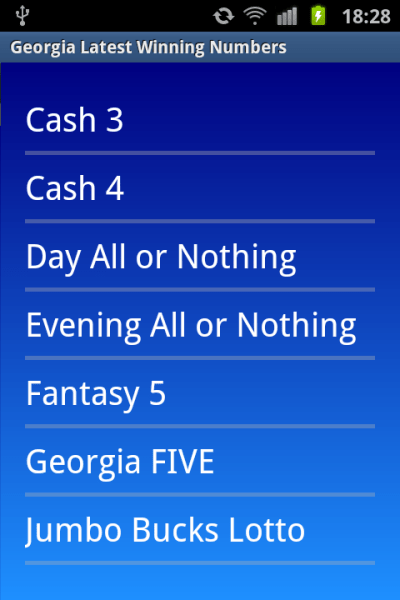 Georgia winning numbers - Android Apps on Google Play