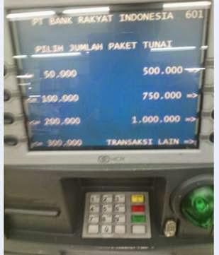 Menu ATM