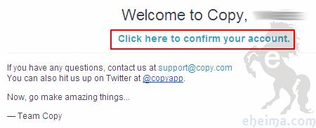 copy網路空間確認信