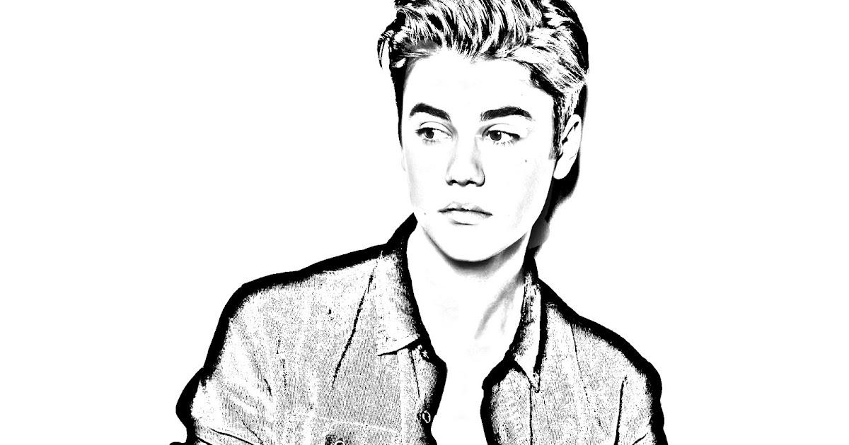 Justin Bieber Coloring Pages - Democraciaejustica