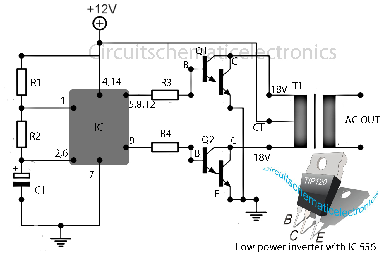 12v to 120v inverter circuit diagram electronic circuit schematic