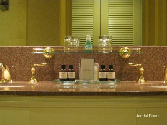 Fairmont Chateau Whistler, toiletries in the bathroom