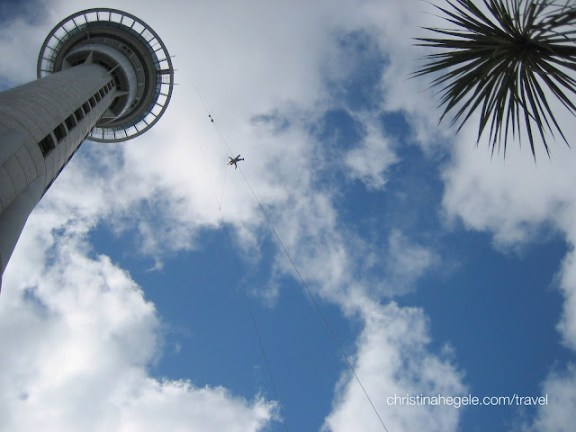 Skyjump from Auckland's Sky Tower