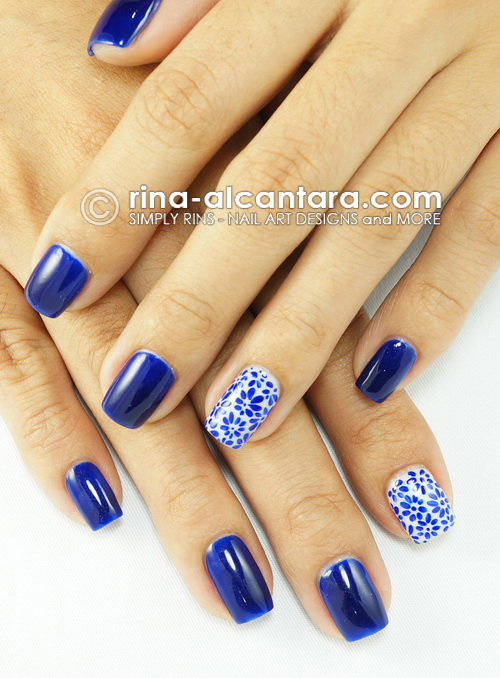 Nail Art Porcelain Look Simply Rins