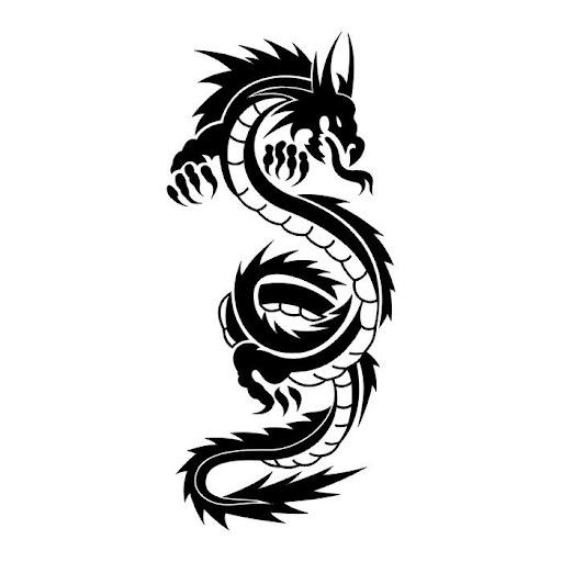 black tribal dragon