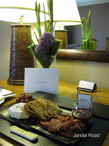 Fairmont Chateau Whistler welcome plate