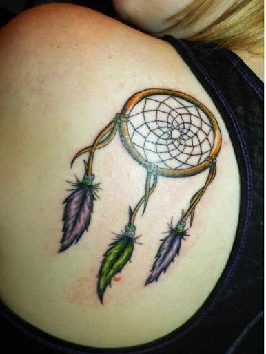 upper back Dreamcatcher Tattoos