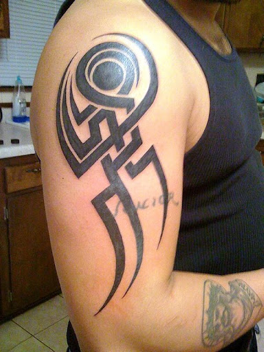arm tribal tattoo ideas for men