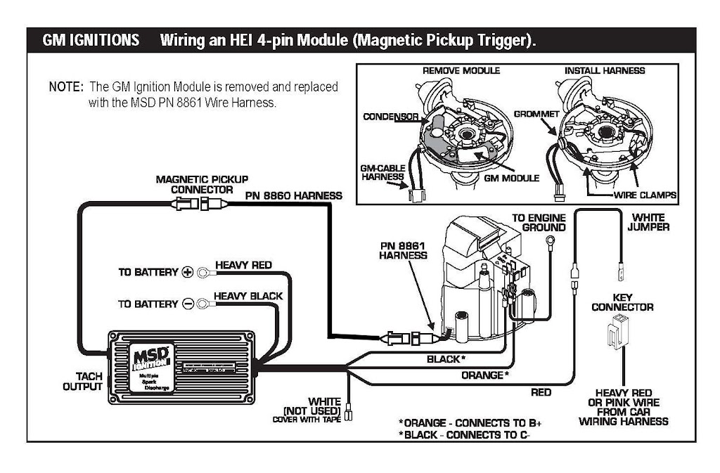 msd 8860 harness wiring diagram