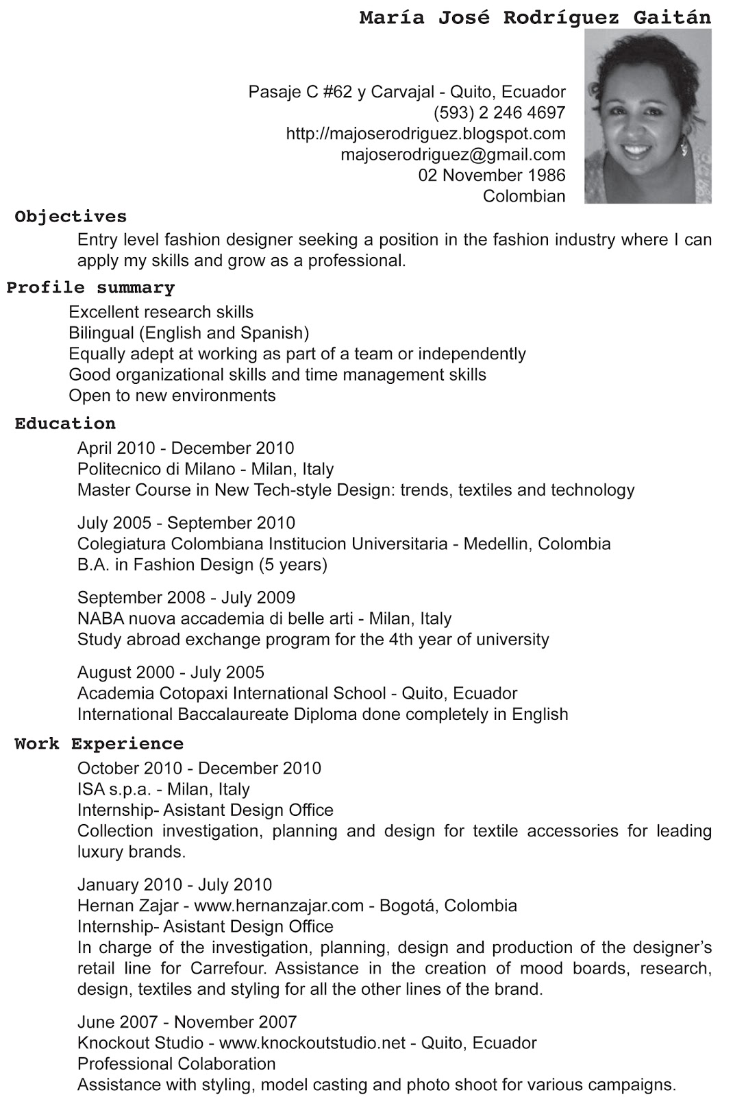 cv english fashion designer resume format examples cv english fashion designer bioworld merchandising noida fashion garments cv english