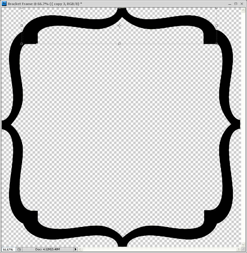 Humbug Graphics Galore Bracket Frame in Photoshop
