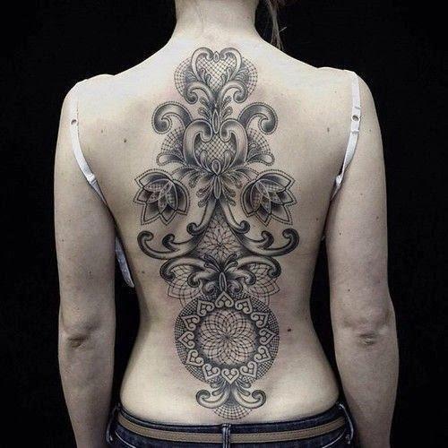 full back unique tattoos for girls