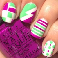 "Aggies Do It Better: OPI Neon 2014 ""Beach Towel Nail Art"""