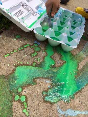 ingredient sidewalk paint views from a step stool. Black Bedroom Furniture Sets. Home Design Ideas