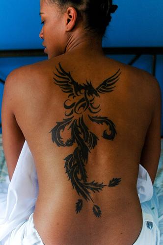 tribal Phoenix tattoo designs