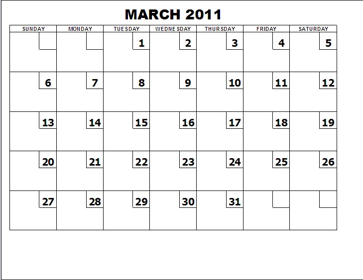 FORMS FOR FREE Table Calendar