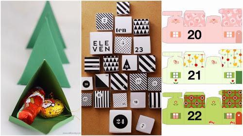 Doma vyrobený adventí kalendář