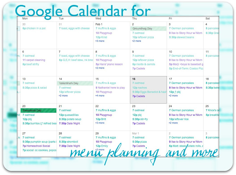 Google Calendar for Menu Planning Simply Convivial