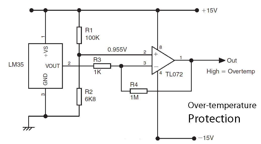 basic lm35 temperature sensor circuit