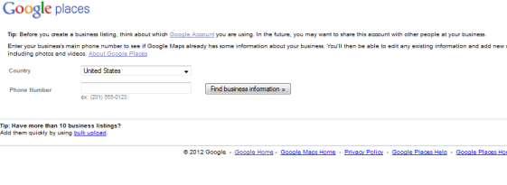 Confirm Business Phone Number For Google Places Listing