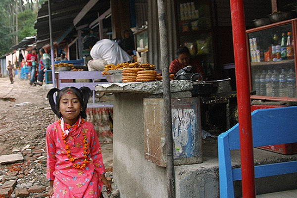 Dakshinkali temple nepal, chai at dakshinkali, food stalls at Dakshinkali Nepal, nepalese food stalls