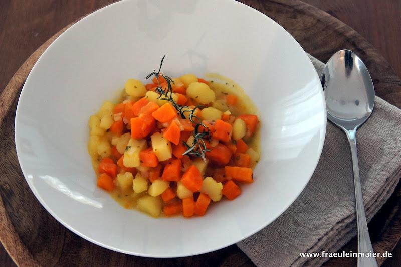 Möhren durcheinander, Kartoffeleintopf, Möhreneintopf
