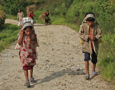 Child workers in Nepal