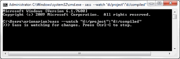 Sass Watching for Changing