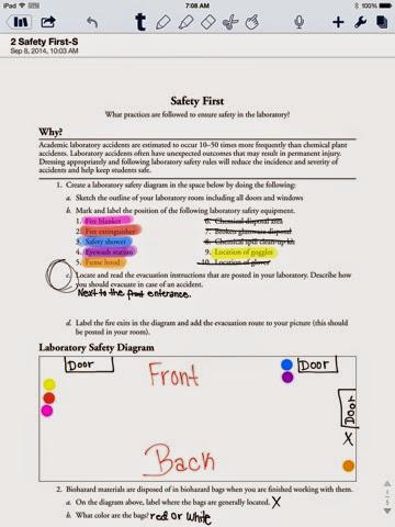 chemistry per 3 Safety first worksheet - chemistry safety