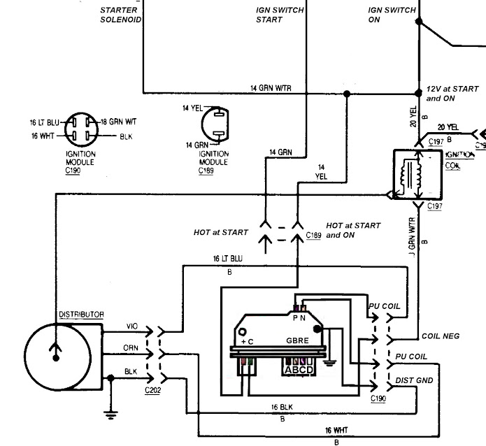 wiring diagram together with gm hei distributor wiring diagram