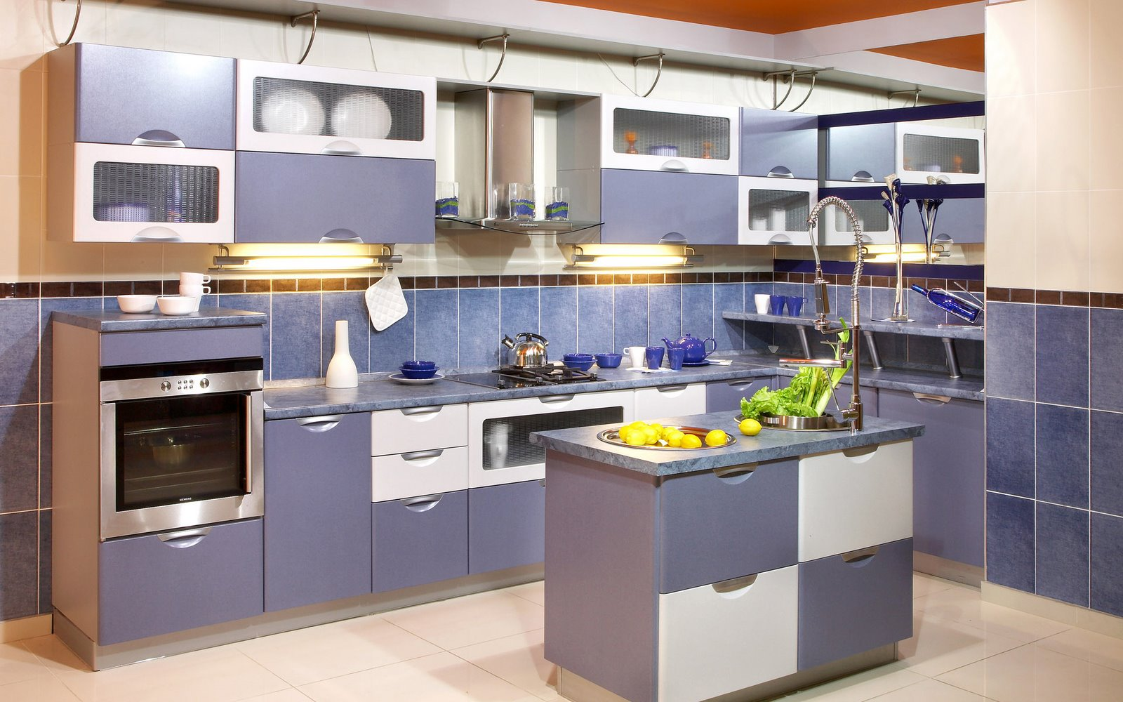 Blue Cabinets In Kitchen Home Christmas Decoration Modern Kitchen Designs In Blue