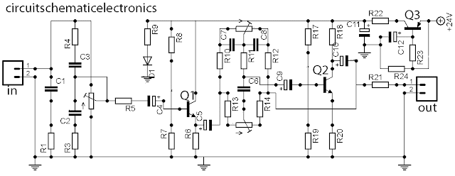 stereo tone control with loudness and filter schematic diagram